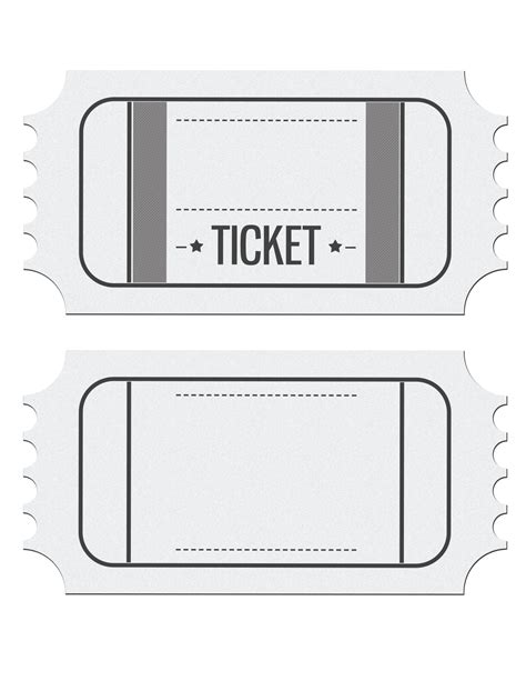 Ticket Place Card Template by Blank Ticket Invitation Template Place
