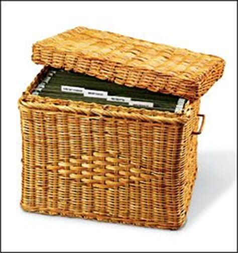 decorative hanging file boxes wicker file