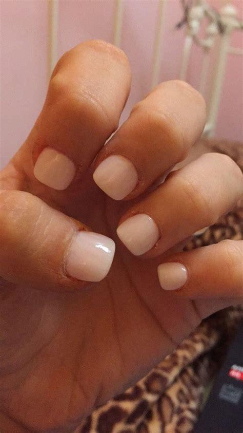 best color for super short nails short acrylic nails with the color quot romantique quot by cnd