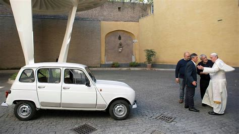 renault 4 pope the pope s new car is a 29 year old renault chris kidd