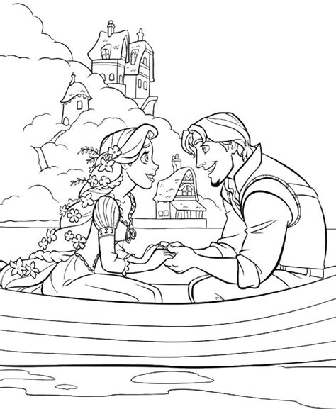 free coloring pages princess rapunzel princess rapunzel dating with flynn rider coloring pages