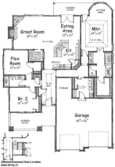 1905 sq ft the barrie house floor plan total kitchen craftsman style house plan 3 beds 2 00 baths 1905 sq ft