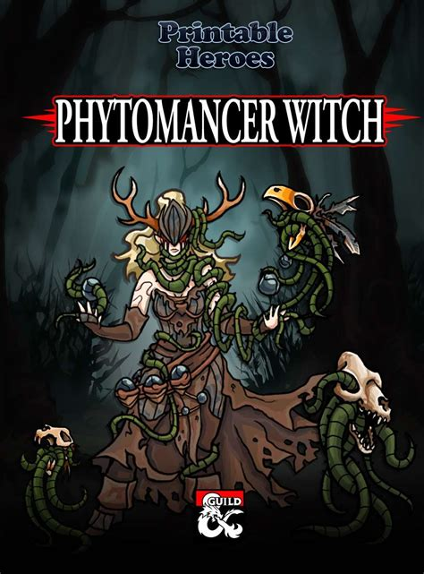 printable heroes giants phytomancer witch paper miniatures dungeon masters guild