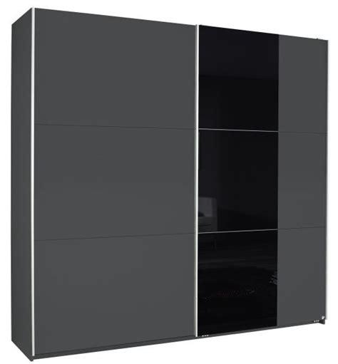 kleiderschrank grau schwarz schwebet 252 renschrank nala grau schwarz 2 t 252 ren b 218 cm