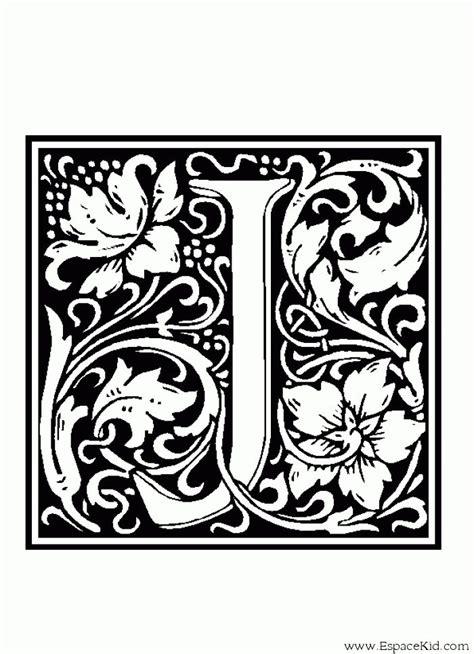Coloriage Lettre J Coloriages Lettrine Letter Alphabet
