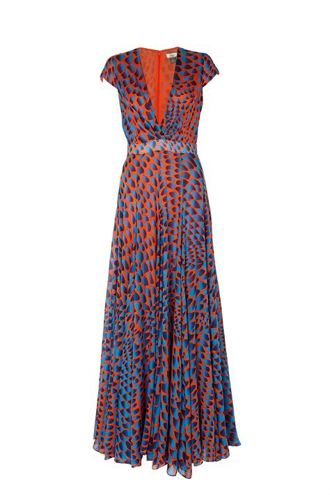 Maxi Dress Dress Motif issa navy pattern waisted maxi dress in multicolor lyst