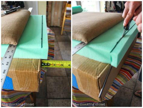 how to cut upholstery foam how to reupholster a dining chair seat diy tutorial the