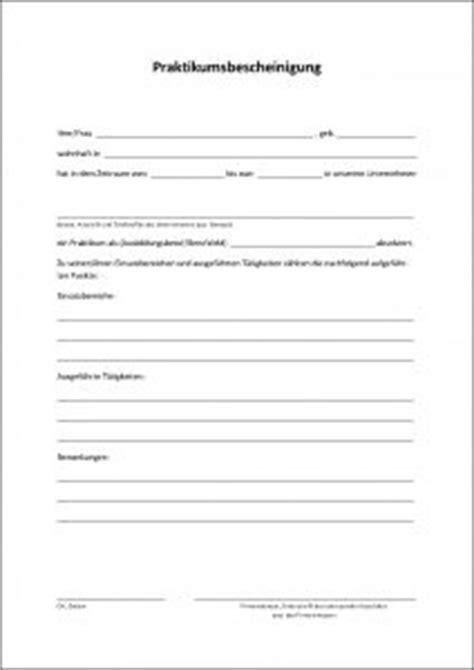 Praktikum Bescheinigung Vorlage Praktikumsbescheinigung Als Pdf Formular