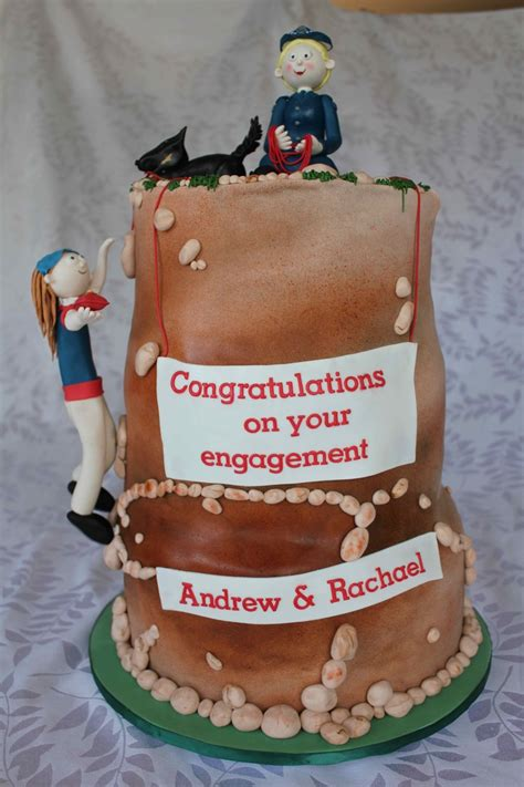 Rocks For Cake Decorating by Rock Climbing Engagement Cake Cakecentral