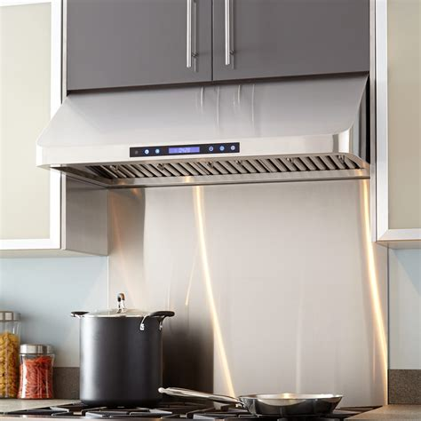 black stainless under cabinet range hood 30 quot holt series stainless steel under cabinet range hood