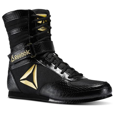 gold boxing shoes reebok renegade pro boxing boots black gold