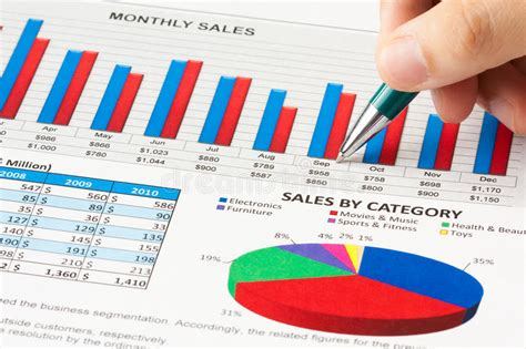 sle of school annual report annual sales report stock photo image of business chart