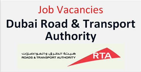 latest jobs hiring in road & transport authority (rta) at