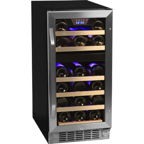small wine fridge built in built in dual zone stainless steel wine refrigerator