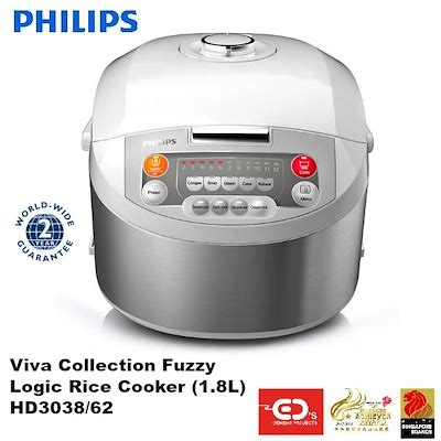 Rice Cooker Philips 1 8 L qoo10 philips viva collection fuzzy logic rice cooker 1