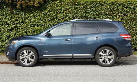 nissan pathfinder hybrid 2014 nissan pathfinder hybrid platinum premium road test