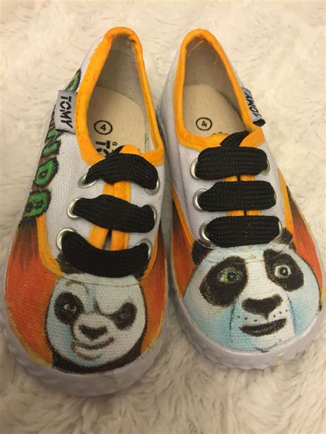 Black Panda Shoes 5 kung fu panda painted canvas shoes canvas shoes painted canvas shoes