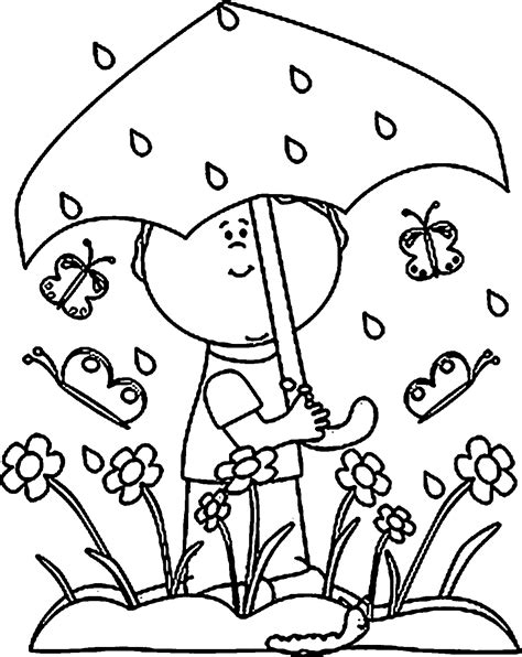 coloring pages about rain rain coloring page coloring home