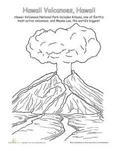hawaii volcano coloring page 14 best images of causes of earthquakes worksheet