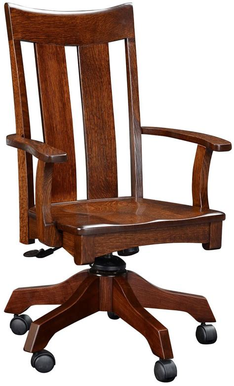 Amish Desk Chair by Barclay Amish Rolling Office Chair Countryside Amish