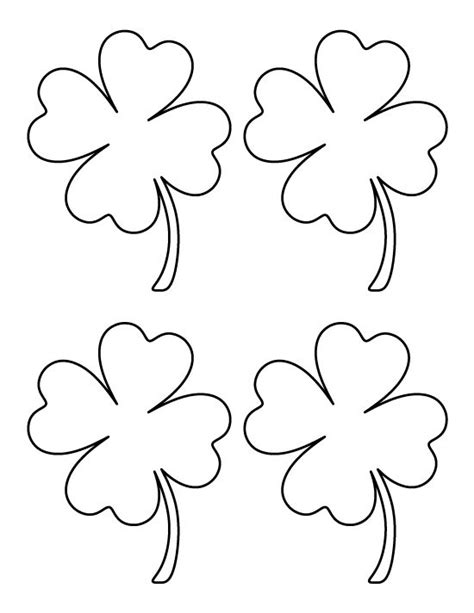 printable medium four leaf clover pattern use the pattern