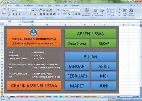 download format absensi siswa aplikasi absensi siswa format microsoft excel unduh dokumen
