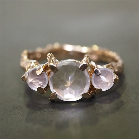rose quartz l tiny twinkle in the wild rose quartz ring in rose gold by