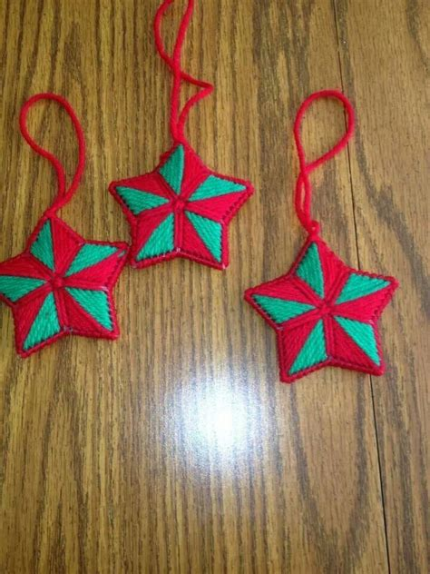 plastic canvas christmas ornaments plastic canvas