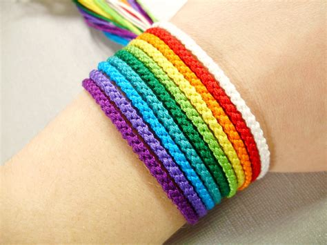 colored for bracelets rainbow friendship bracelet set nine color bracelets and one