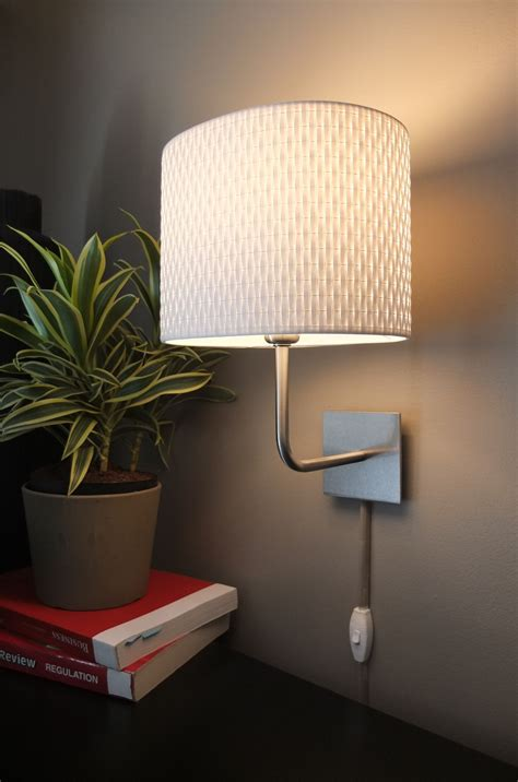 wall mounted ikea ls are an easy way to add light in a