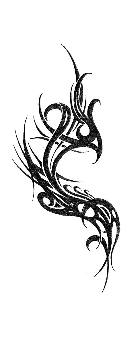 cool phoenix tattoo designs unique tribal design