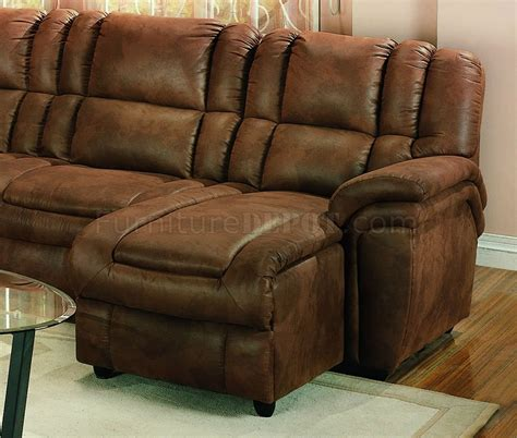 Sectional Sofa Microfiber Brown Specially Treated Microfiber Sectional Sofa W Recliner