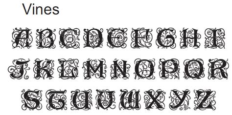 Wedding Engraving Font by Monogram Fonts For Engraving
