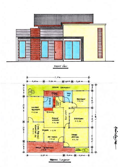 denah dan desain rumah minimalis contoh rumah minimalis