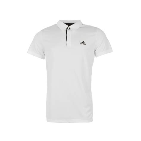 Polo Shirt Adidas White adidas mens fab polo shirt tennis squash badminton racket sport