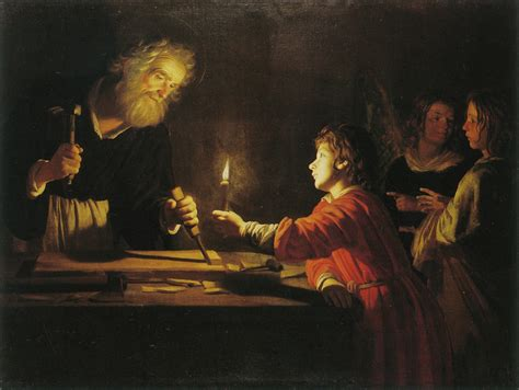 The Carpenter S Miracle Gerrit Honthorst In The Carpenter S Shop