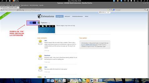 quitar barra superior firefox ubuntu como poner iconos systray en la barra superior gnome 3 6