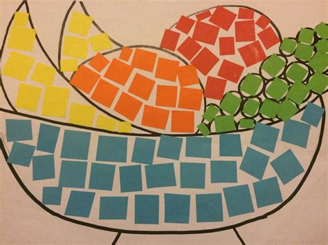 How To Make Paper Mosaic - paper mosaic for stage 1 so simple and adaptable for