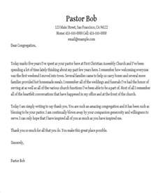 pastor appreciation letter to church 41 appreciation letters in pdf