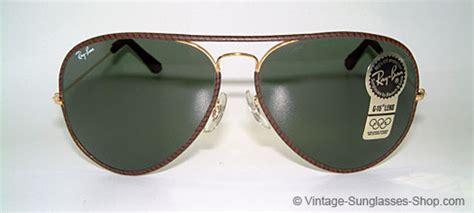 sunglasses ban large ii leathers brown vintage