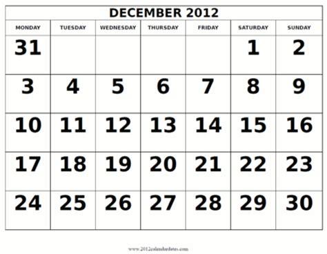 December 2012 Calendar Calendar 2012 Free Printable Calendar December 2012