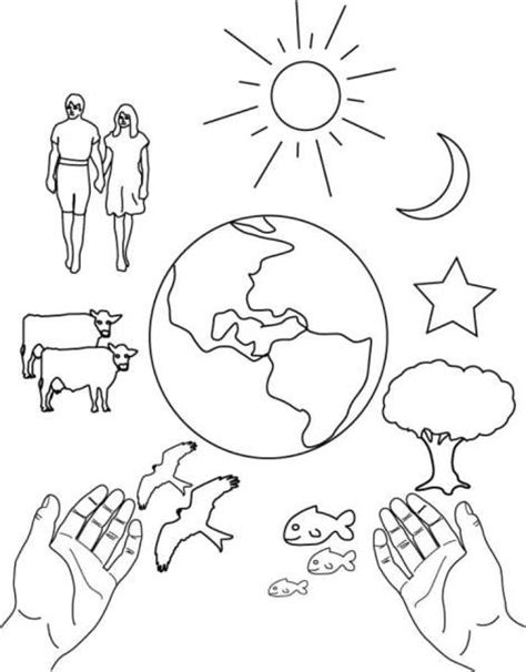 creation coloring pages free to print coloring page 7