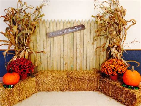 fall festival decoration ideas church thanksgiving photo booths and corn stalks on