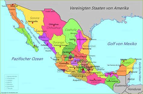 map the mexico mexiko karte annakarte
