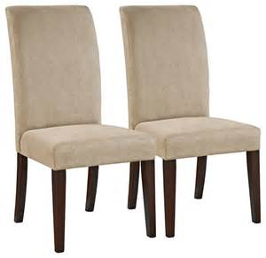 Microfiber Parsons Dining Chairs Contemporary Parsons Beige Microfiber Dining Chair Traditional Living Room Chairs