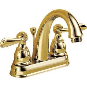 Windemere Faucet Delta 25996lf Pb Windemere Polished Brass 2 Handle 4 In