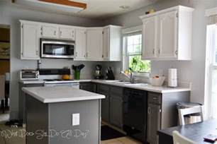 Painting Kitchen Cabinets White Before And After by Painted Kitchen Cabinets Before And After What Does She