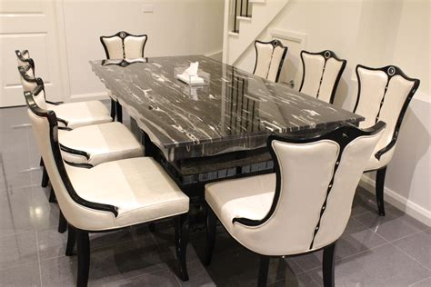 arezzo marble dining table   chairs marble king