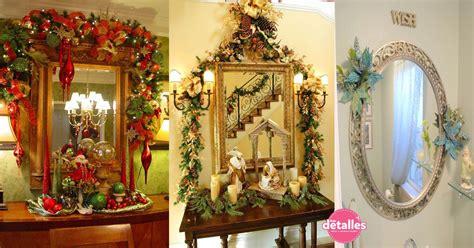 decorar un espejo para navidad ideas para decorar espejos en navidad dale detalles