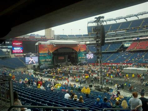 section 106 gillette stadium gillette stadium section 106 concert seating